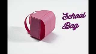 How To Make A Paper School Bag | Backpack Origami