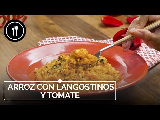 Fácil y rápido: delicioso arroz con langostinos y tomate