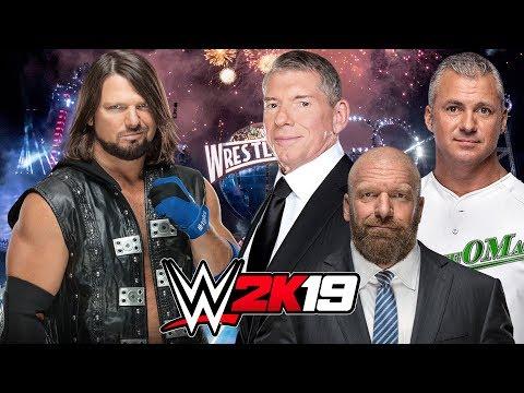 AJ STYLES vs THE McMAHON FAMILY | WWE 2K19 Gameplay