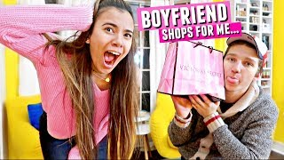 Boyfriend picks out my Victoria's Secret Outfits! He was so embarrassed lol...