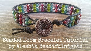 Beaded Loom Bracelet Tutorial