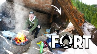 WE FOUND THE HIDDEN CAVE FORT!