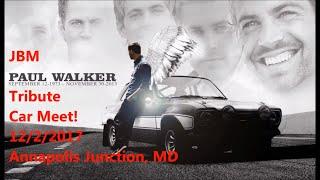 JBM Paul Walker Tribute Car Meet! Big Multilevel Garage Car Show! 12/2/2017