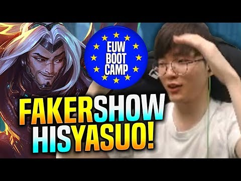 FAKER SHOWS HIS YASUO IN EUW! - SKT T1 Faker Plays Yasuo vs Kayle Mid   SKT EUW Bootcamp Worlds 2019