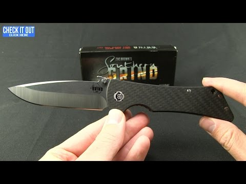 "Southern Grind Bad Monkey Drop Point Knife w/ Emerson Wave (4"" Black Serr)"