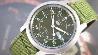 9feae9c83b5 Relógio SEIKO 5 AUTOMATICO VERDE MILITAR CALENDÁRIO DUPLO SNK805 NA  ALTARELOJOARIA