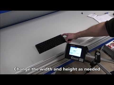 CM 100: Setting barcode