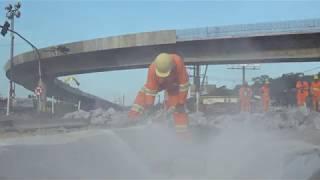 Obras do viaduto na Nova Entrada de Santos estão na fase final