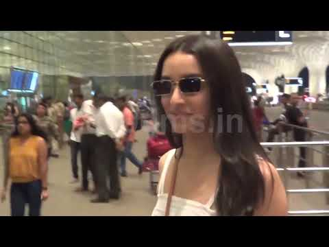 SHRADDHA KAPOOR SPOTTED AT HYDERABAD AIRPORT