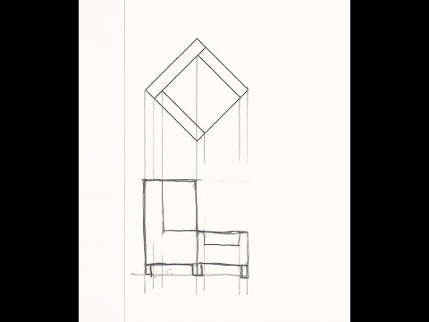 Draft an Orthographic (Elevation) View of a Foreshortened
