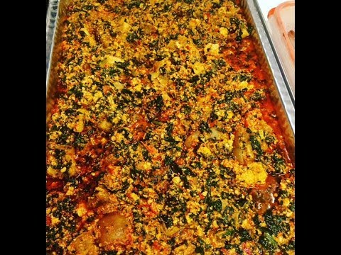 How to make Nigerian Egusi Soup (Melon and veg.)