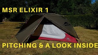 MSR Elixir 1 | Tent Set Up | Pitching MSR Elixir 1 | Mountain Safety Research Tents | Wild Camping.