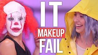 'IT' Pennywise Halloween Makeup Tutorial FAIL! (Beauty Break)