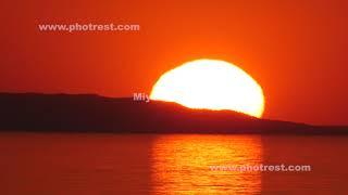 落日の動画素材, 4K写真素材