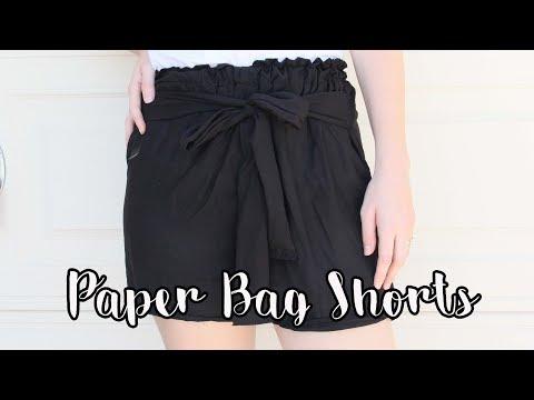 SHORTS CON FRUNCIDOS EN LA CINTURA /paper bag shorts