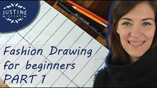 How To Draw    TUTORIAL   Fashion Drawing For Beginners #1   Justine Leconte