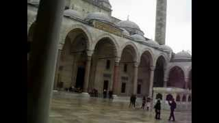 preview picture of video 'Sounds of Azan from the largest mosque in Istanbul (Süleymaniye Mosque)'