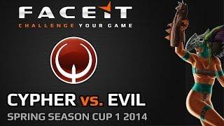 FACEIT QL SSC1 2014 GRAND FINAL | (Cypher vs evil)
