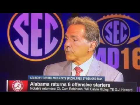 Nick Saban and Paul Finebaum get testy at SEC Media Days