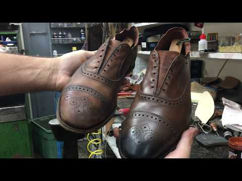 Shoe Cobbler Restores Shoes from Beginning to End
