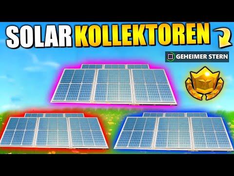 Fortnite Woche 9   Besuche Solarkollektoren + Geheimer Battlerpass Stern | Deutsch