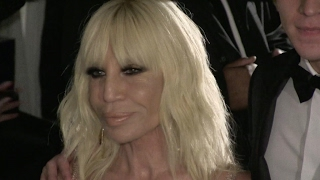 Donatella Versace at the amfAR Ball in New York City