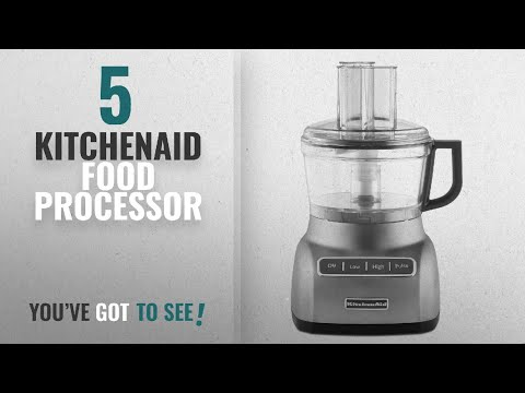 , KitchenAid KFP0922CU 9-Cup Food Processor with Exact Slice System – Contour Silver