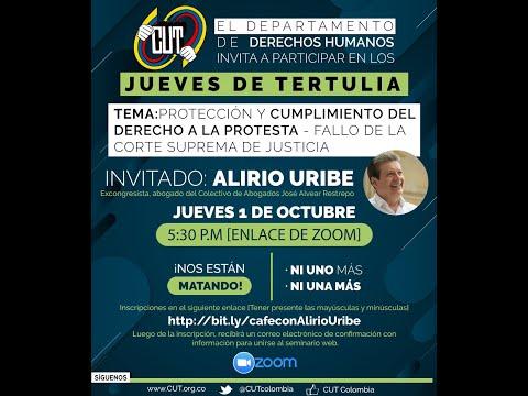 Jueves  1 Octubre    Tertulia DDHH CUT    Tema: Protección y cumplimiento del derecho a la protesta