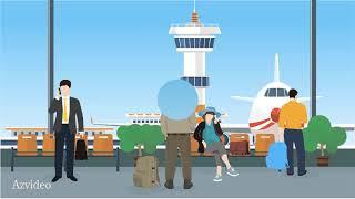 Рисованное видео Аэропорт