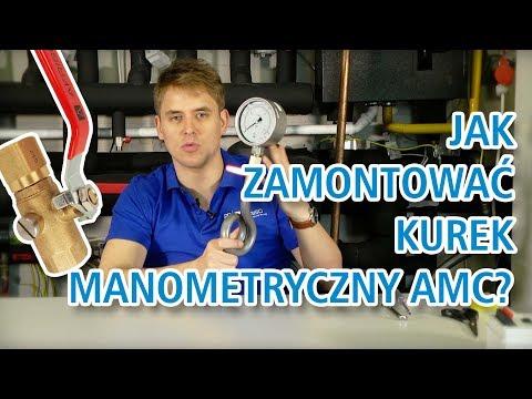 Montaż kurka manometrycznego AMC i rurki syfonowej