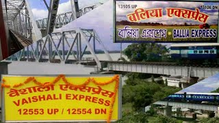 preview picture of video '| LHB 12553 VAISHALI SUPERFAST EXPRESS | SKIPPING JAGJEEVAN BRIDGE & MEETS BALLIA EXPRESS'