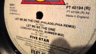 """Five Star  - Let me be the one. 1985 (12"""" Philadelphia remix)"""