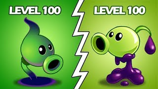 Plants Vs Zombies 2 Lanzaguisantes Pringoso 100 Vs Lanzaguisantes Sombrio Nivel 100