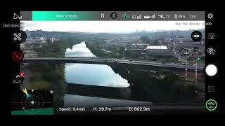 Hubsan Zino Mini Pro após atualização e teste FPV celular