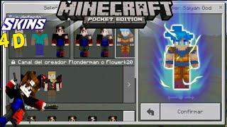 Goku Minecraft Skin Videos - Skins para minecraft pe de goku