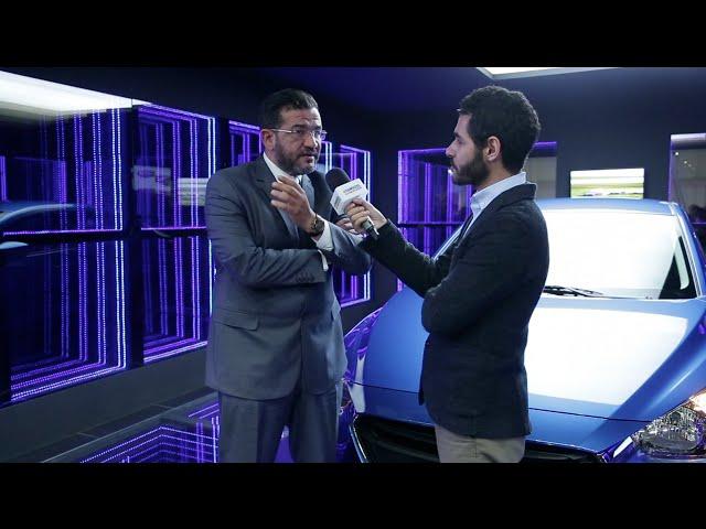 رئيس قطاع مازدا مصر يستعرض أحدث سيارات الشركة بالمعرض أوتوماك فورميلا 2016