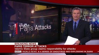 Paris Terror Attacks | BBC World News coverage 14.11 (2015).