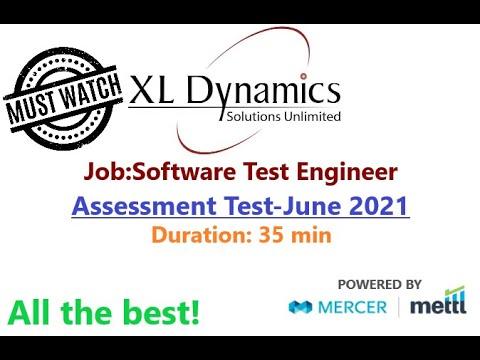 XL Dynamics Assessment of Software Test  Engineer June 2021