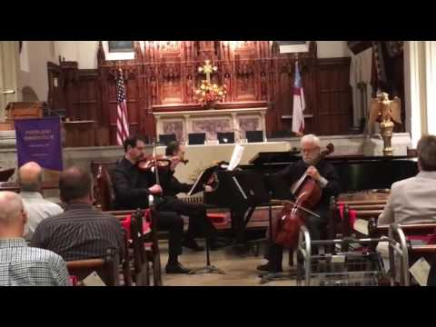 "Opening of Beethoven's Trio in D, Op. 70 no. 1, ""Ghost"", with Steve Kamin, piano and Tim Carter, cello on November 20, 2016 in Portland, ME."