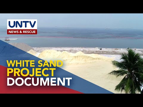 [UNTV]  DENR ready to show documents regarding artificial white sand project