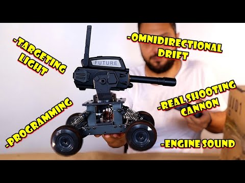 Incredible RC TANK with REAL Shooting Cannon & Omnidirectional Drift Tires