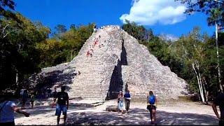 Exploring Coba Mayan Ruins In The Jungle Of Mexico