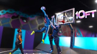 Basketball but the Court is a Trampoline...