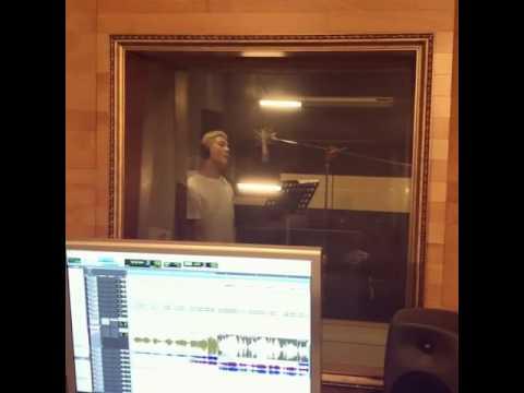 [CJES Instagram] 161205 Junsu in the recording studio singing Night Light OST