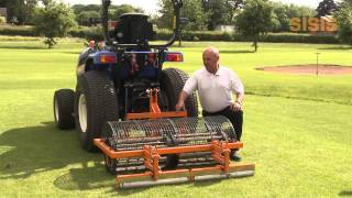 SISIS Multitiner Tractor Mounted Drum Aerator for Golf Course Maintenance