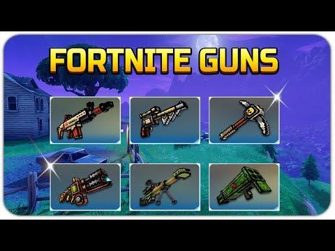 Pixel Gun 3D - Fortnite Weapons Gameplay