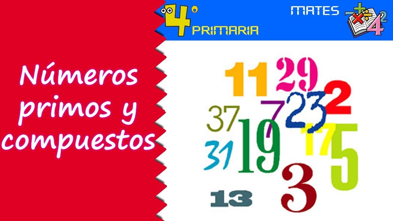 Matemáticas. 4º Primaria. Tema 2. Números primos y compuestos