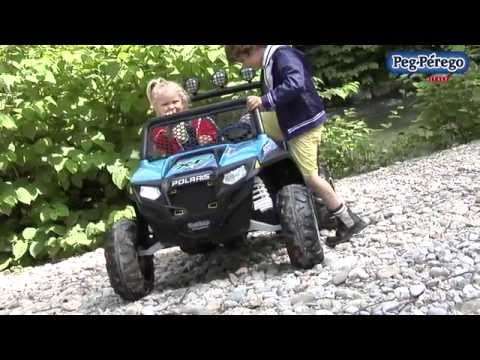 Polaris Ranger RZR 900 Peg Perego Azul video