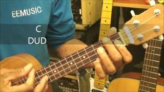 The Duck Song On Ukulele Strumming Lesson Children Songs @EricBlackmonGuitar