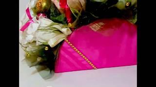 Композиция из конфет Цветочно-шоколадный редикюль от компании Букеты из Игрушек и Конфет от Okl Оригинальные Подарки - видео